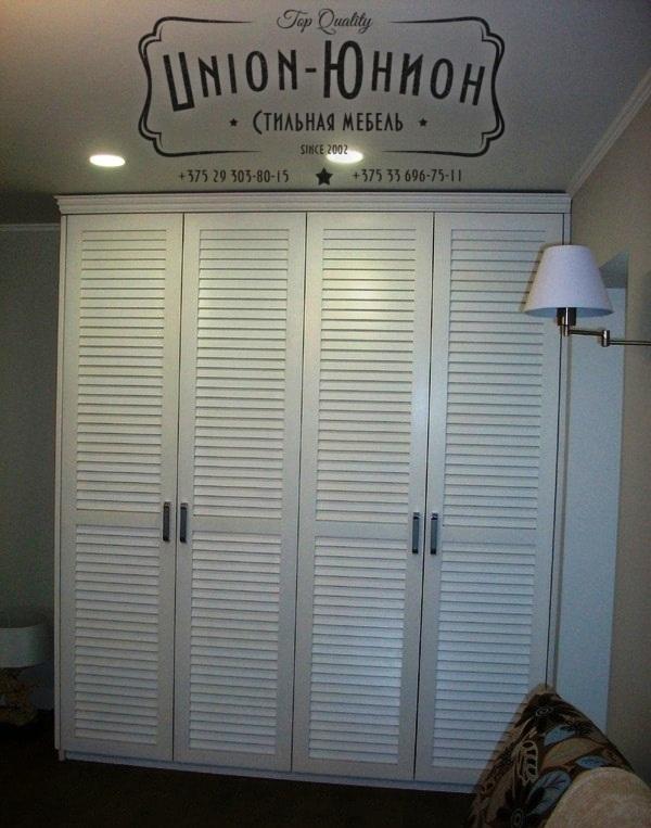 Стильная мебель юнион жалюзийные двери.